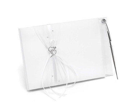 10033 heartfelt guest book and pen set