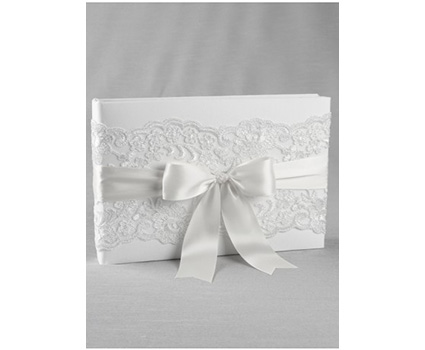 A01235GB Chantilly lace guest book