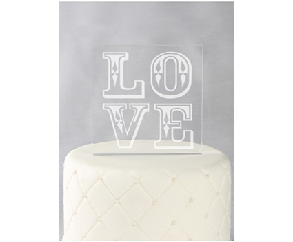 A91725 love acrylic cake topper
