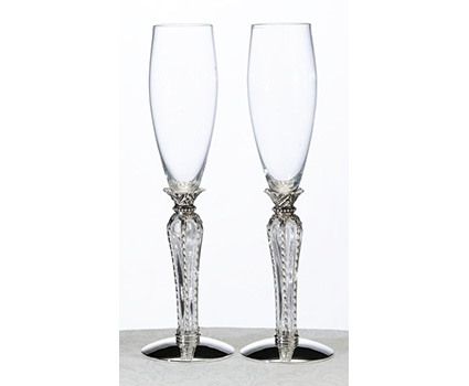 G530 crown champagne flutes