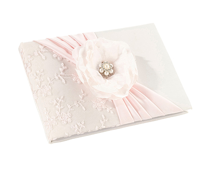 GB340 blush pink guest book