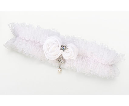 LG191-W-Tulle-Jeweled-Garter-Single